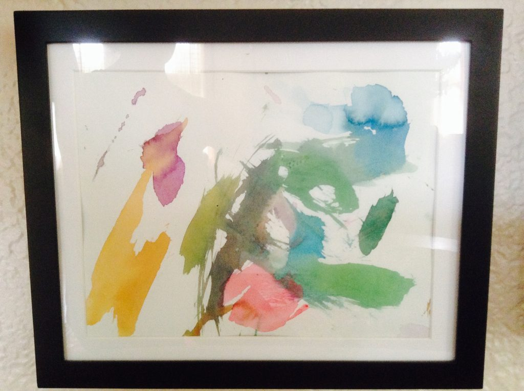 """The Colors of the Rainbow"" An original watercolor painting by Caleb Jans (2.5 years old)"